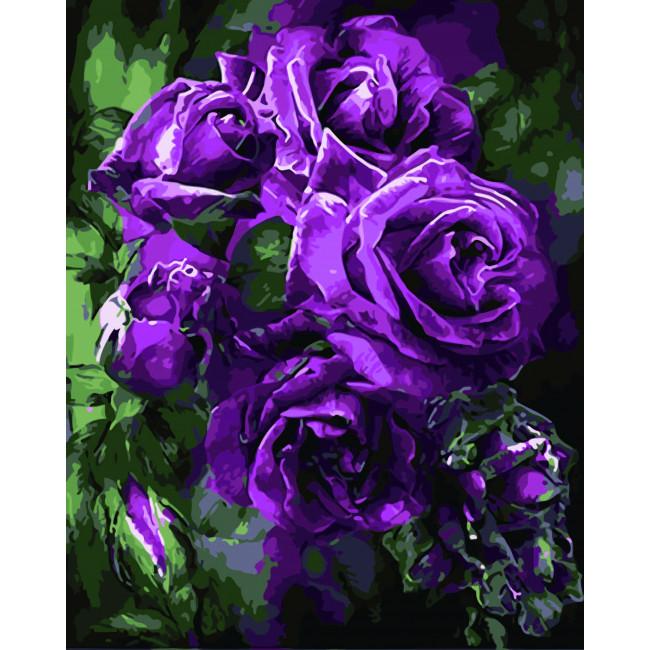 Kit pictura pe numere cu flori, NDTP-1416